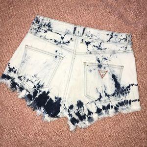 Guess Acid Wash Vintage style denim shorts